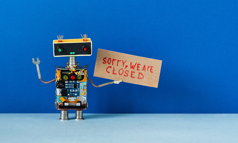 What happens when your charity's customer service is offline?