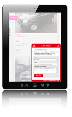 Web chat solution - widget tablet