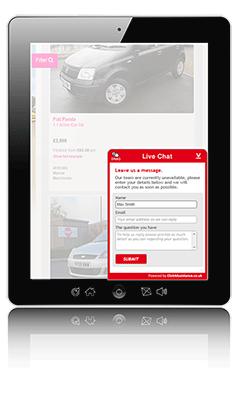 Web chat solution - widget tablet