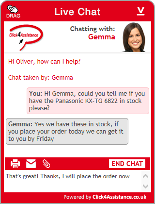 Live Chat Windows embedded chat widget