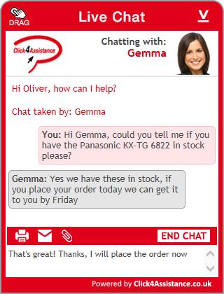 Live Chat Windows embedded chat widget