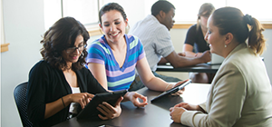 Student Group Web Chat Software on Tablets
