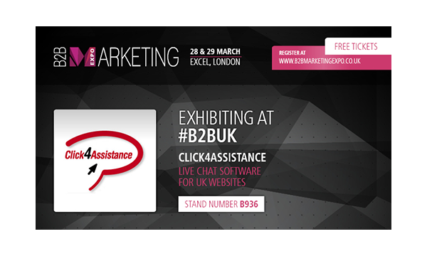 Click4Assistance are coming to the B2B Marketing Expo in March