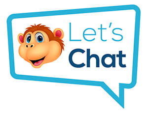 Chat Monkey's live chat on website button