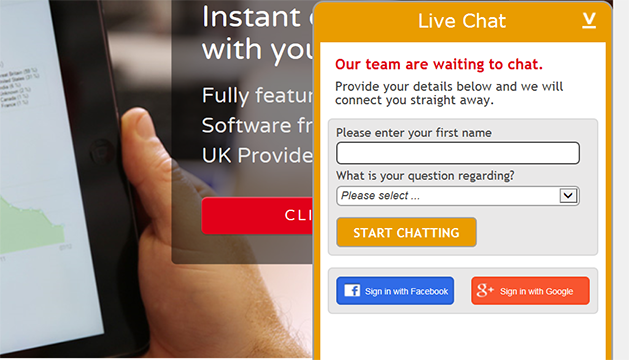 prechat form on live chat for web