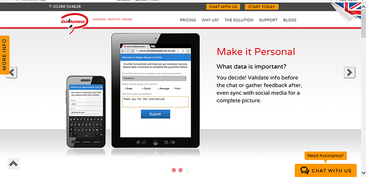 live chat solution is fully customisable