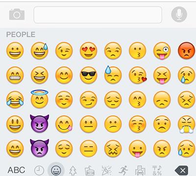 emoji in web chat system
