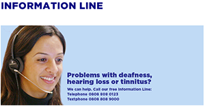 Action on Hearing Loss place chat box for website on Information Line page