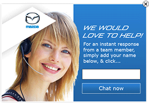 Best Live Chat Proactive - Mazda