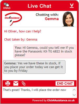 live chat for website widget