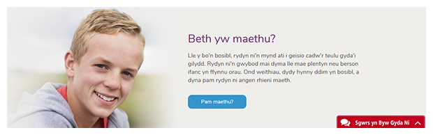 Rhodda Cynon Taf County Borough Council's online chat service is available both in English and Welsh