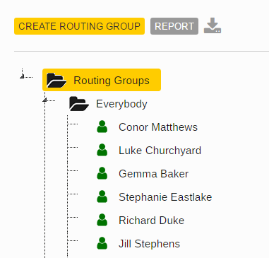chat box for website - create routing groups