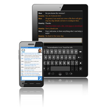 how to add live chat to my website on tablets