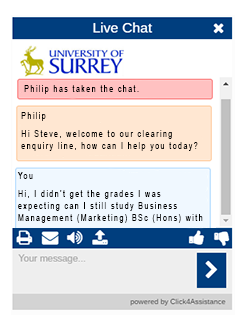 University of Surrey use the best live chat solution in the UK for Clearing.