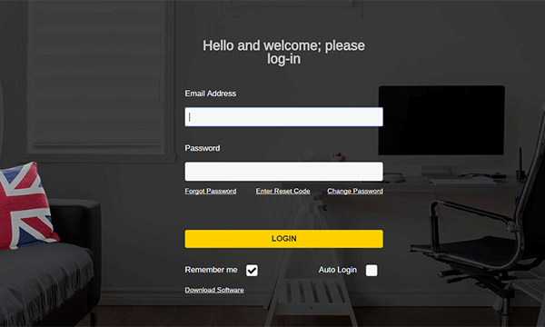 Chat Integration login panel