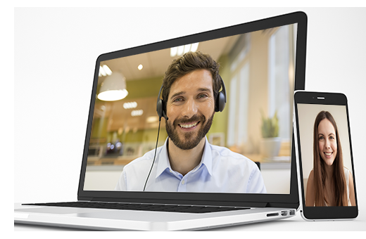 Video chat box for website