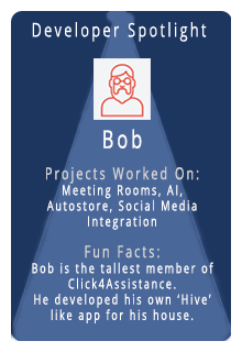 chat box for website developer spotlight - Bob